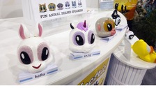'Electric Friend Minis' are displayed at the Noetic booth at the Consumer Electronics Show (CES)