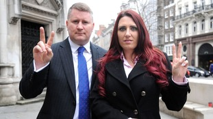 Paul Golding was in Northern Ireland supporting his deputy, Jayda Fransen.