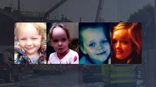 Four children died in the blaze on Monday