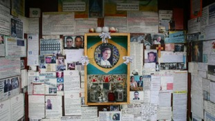 Tributes to Jean Charles de Menezes who was shot by police at Stockwell Underground Station in 2005