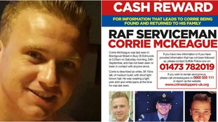 Corrie McKeague: Reward increased to £100,000 as airman's mother 'begs' for information