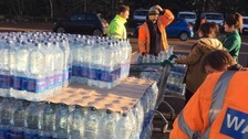 The first supplies of bottled water arrived at Barton Road's Morrisons after 9am.