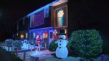 Charity Christmas light display vandalised