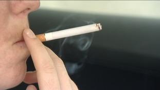 Person smoking