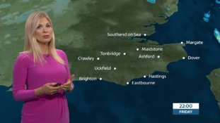 Friday evening forecast for the east of the region