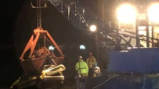 Rescue operation after car plunges over Poole quayside
