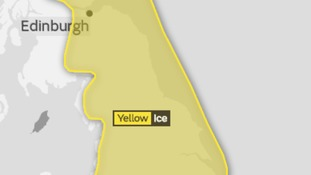 Ice risk 6pm Saturday until 10.30am Sunday