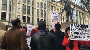 Homelessness protest