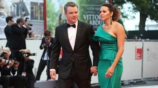 Matt Damon and his wife Luciana Barroso at the Venice Film Festival.