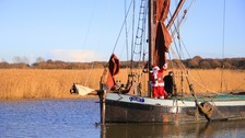 Even Father Christmas would have felt a little chilly as he arrived at Snape Maltings
