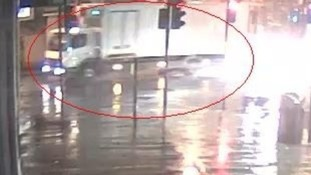 This white lorry was one of the vehicles involved, say police.