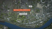 A female pedestrian has died following a crash in Newcastle.