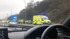 Crash on M4 causes miles of tailbacks near Margam