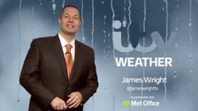 James Wright has the latest weather forecast