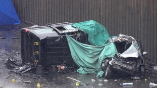A number of vehicles were involved in the crash.