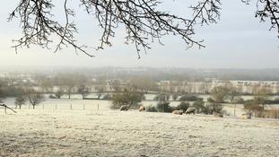 Frost across Dedham Vale.