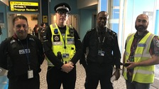 Essex police officers and specials at Stansted Airport
