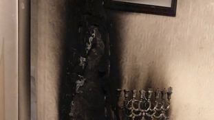 Images released of fire damage caused by unattended candles
