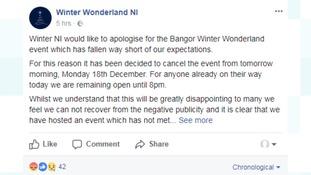 statement, Winter Wonderland NI