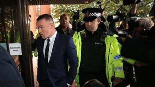 Everton striker Wayne Rooney arriving at Stockport Magistrates' Court in September.