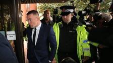 Everton striker Wayne Rooney arriving at Stockport Magistrates' Court in September.
