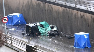 A number of vehicles were involved.
