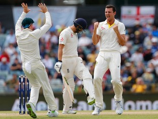 Josh Hazlewood was the pick of the Australian bowlers on the final day.