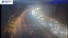 The M62 is closed at junction 26