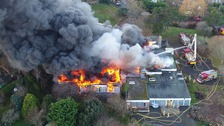 Major fire at former school in Newhaven