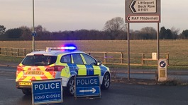 RAF Mildenhall in lockdown