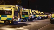 ITV News exclusive: Ambulances with patients on board queue for hours outside hospital