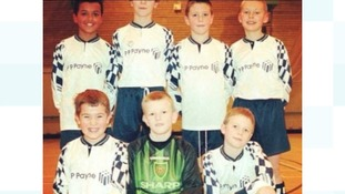 Aden Flint, in the green, supported Manchester United as a youngster.