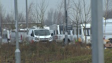 Travellers have moved into the station car park at Cambridge North closing it off to commuters.