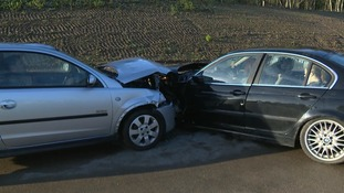 A crash has been staged by police near Norwich to highlight the dangers of drink-driving.