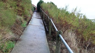 Council engineers have closed the seafront path