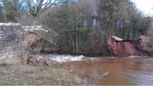 Bell Bridge's collapse following Storm Jonas