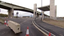 The new A57 bridge has opened following delays