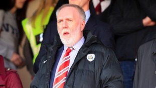 Barnsley owner Patrick Cryne in the stands at Oakwell