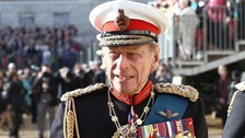 The Duke in 2014 attending the Royal Marines 350th Anniversary Beating Retreat at Horse Guards Parade, London.