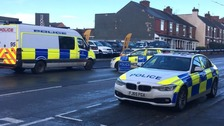 Four men were arrested in early morning raids in South Yorkshire and Derbyshire on Tuesday.