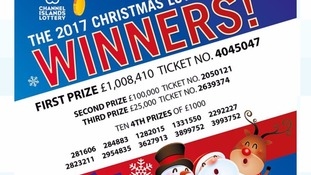 Guernsey ticket wins CI Christmas Lottery