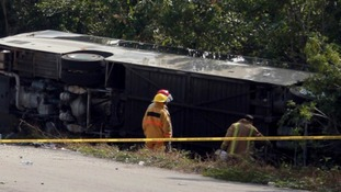 Mexico tour bus crash leaves 12 dead, 20 injured on excursion to Mayan ruins