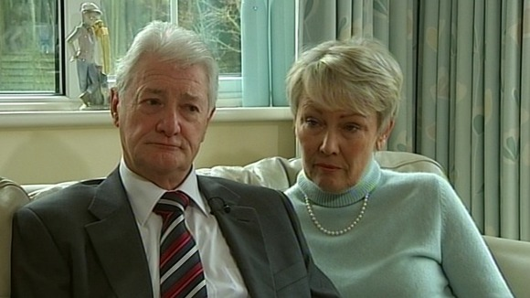 Christopher Tappin with wife Elaine at their home in Orpington, Kent