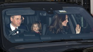 The Duke and Duchess of Cambridge with Princess Charlotte and Prince George.