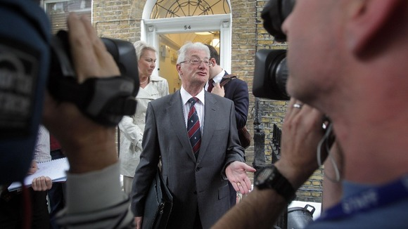 Christopher Tappin addresses the media in central London in August 2010