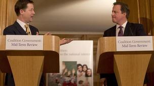 Prime Minister David Cameron, and Deputy Prime Minister Nick Clegg