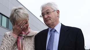 Christopher Tappin, with his wife Elaine, gives a statement at Heathrow airport shortly before being extradited to the US