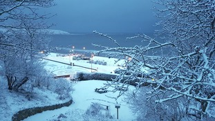 The snow at Filey on 30th November came four weeks too early.