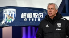 The Head Coach of West Bromwich Albion, Alan Pardew
