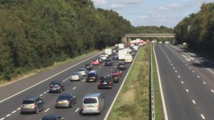 Boy admits arson after motorists stranded for hours on M3